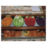 Collection of Four Ceramic Fruit/Vegetable Plates