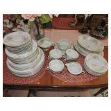 Theodore Haviland Porcelain Dinner Set of 47