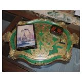 Vintage Italian Tray & Russian Keepsake Box