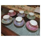 Collection of Six Japanese Tea Cups/Saucers