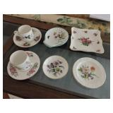 Collection of Porcelain Tea Cups/ Saucers & Plates