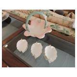 Vintage Denton Porcelain Leaf Dishes -  Set of 8