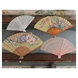 Collection of Four Oriental Fans
