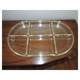 Vintage Acrylic Sectional Party Tray