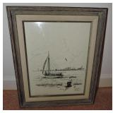 C. 1974, A.W. Pieper, Signed & Numbered Drawing