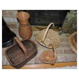 Collection of Vintage Baskets of All Sizes