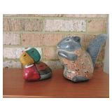 Vintage Mexican Pottery & Painted Rock