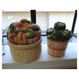 Pair of Mann Cookie Jars