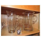 Collection of Assorted Blown Glass Pitchers