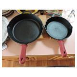 Pair of Cast Iron Tranmotina Frying Pans