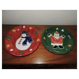 Pair of Gibson Christmas Plates