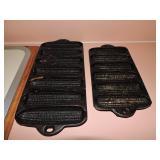 Vintage Cast Iron Cornbread Tins