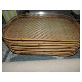 Vintage Bamboo & Rattan Trays