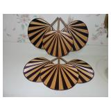 Pair of Decorative Fan Wall Hangings