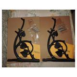 Pair of Decorative Cast Metal Plant Hangers