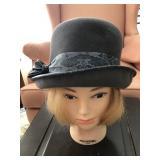 Vintage Noreen Velour Cloche Hat