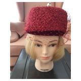 Vintage Ladies Pill Box Hat