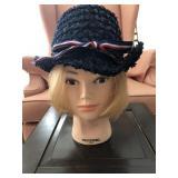 Vintage Woodward & Lothrop Ladies Vagabond Hat