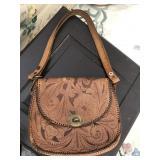 Vintage Stitched Hide Hand Bag