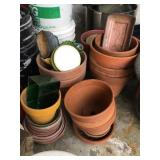 Collection of Assorted Clay Planters