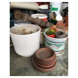 Assorted Collection of Clay & Ceramic Planters