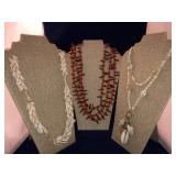 Vintage Collection of Shell and Natural Necklaces
