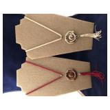 Vintage Cloisonne Pendant Necklaces