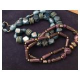 Vintage Silicone Beaded Necklaces