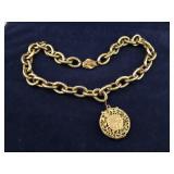 Vintage Goldtone Pendant Necklace
