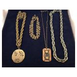 Vintage Collection of Metal Chains and Pendants