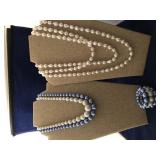 Vintage Beaded Necklace and Bracelet Set