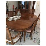 Vintage Oval Mahogany Dining Room Table
