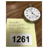 HAMPDEN POCKET WATCH 1911 17 JEWELS