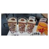 (3) KENTUCKY DERBY GLASSES