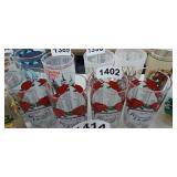(4) KENTUCKY DERBY GLASSES
