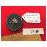 WWII Era German Nazi Black 3rd Class Wound Badge