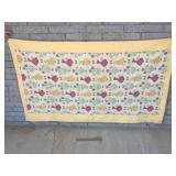 Quilt, Floral with Bonnet Girls, Vintage or Antiqu