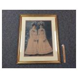 Portrait, Sisters, Antique