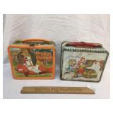 Lot of 2 Metal Lunch Boxes, Vintage
