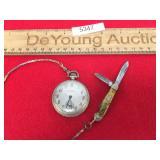 Langendorf Stratford Pocket Watch with Knife, Vint