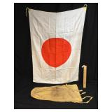 WW2 Era Japanese Flag and Personal Effects Bag