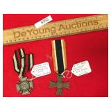 Lot of 2 German Military Medals, Merit Cross