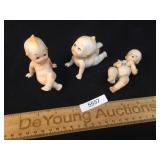 Lot of 3 Porcelain or Bisque Dolls, Vintage or Ant