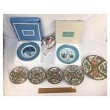 Lot of 10 Items, China Plates, Crystal Knife and M