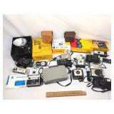 Lot of 20+ Pieces, Cameras and Photo Equipment, Vi