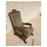 Victorian Walnut Platform Rocking Chair, Antique