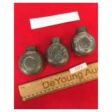 Lot of 3 WWII Era Russian Nagant Oil Cans