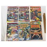 Lot of 6 Comic Books, Vintage