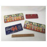 Lot of 4 Watercolor Paint Kits, Vintage