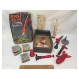 Alpha 1 Ballistic Missile, Rocket Toy, Vintage